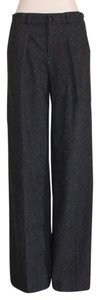 Banana Republic Wide Leg Business Charcoal Trouser Pants GRAY