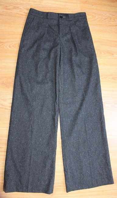 Banana Republic Wide Leg Business Charcoal Trouser Pants GRAY Image 3
