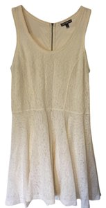 Express short dress Ivory Lace Sexy Bacherlette on Tradesy