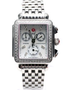 Michele Deco Signature Diamond Dial Steel Ladies Watch