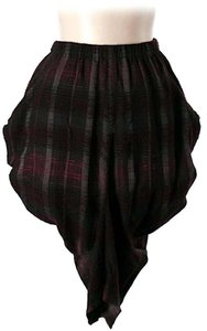 Zero + Maria Cornejo Plaid Gathered Bubble Mini Skirt
