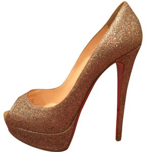 Christian Louboutin Multi sparkle Platforms