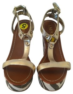 Ralph Lauren Gold Cream Sandals
