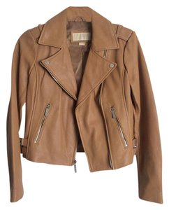 Michael Kors Leather Moto Modern Urban Motorcycle Jacket