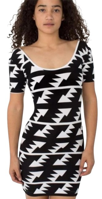 American Apparel short dress black Geometric Aztec Mini on Tradesy Image 1
