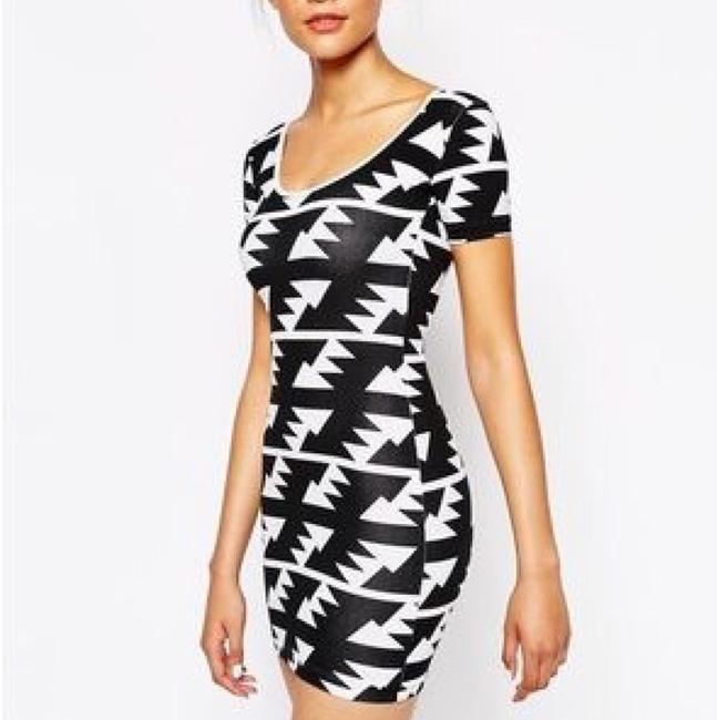 American Apparel short dress black Geometric Aztec Mini on Tradesy Image 2