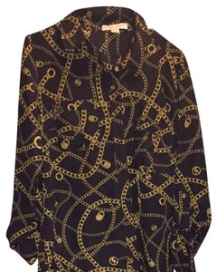 Michael Kors Top Black And Gold