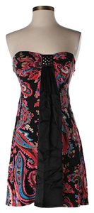 Betsey Johnson Strapless Paisley Dress