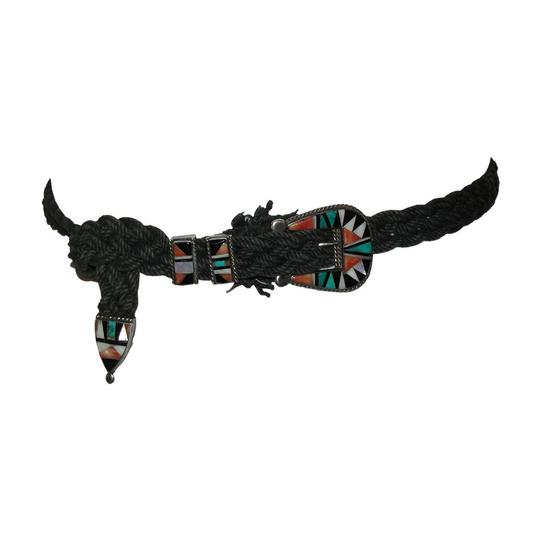 Inlay Zuni Native American Inspired Inlay Belt Image 4
