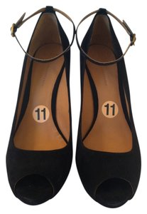 Aerin Black Suede Wedges