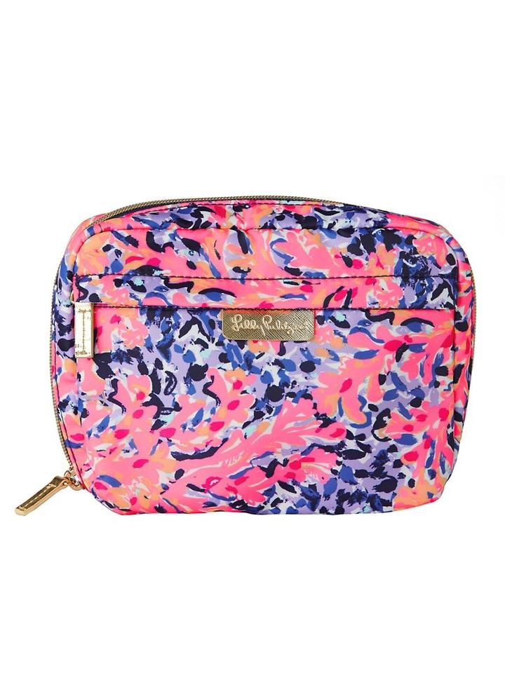 ee15e8f7a2a2 Lilly Pulitzer Coco Coral Crab Cosmetic Bag - Tradesy