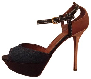 Sergio Rossi Demin and brown Platforms