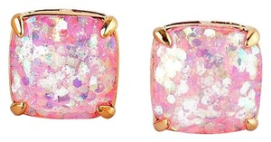 Kate Spade NEW Kate Spade New York Pale Pink Glitter Studs Earrings 12k Gold
