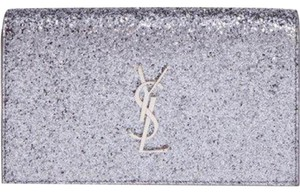 Saint Laurent silver/gunmetal Clutch