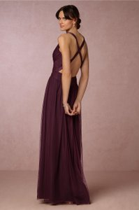 BHLDN Deep Amethyst Tulle Edith By Hitherto Bridesmaid/Mob Dress Size 4 (S)