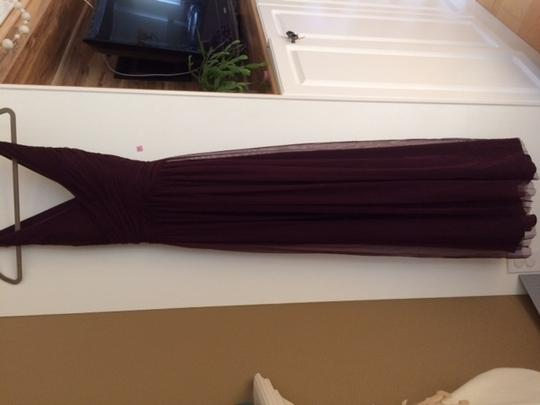 BHLDN Deep Amethyst Tulle Edith By Hitherto Bridesmaid/Mob Dress Size 4 (S) Image 2