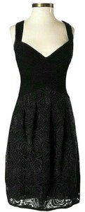 BCBGMAXAZRIA Floral Lace Empire Waist Dress