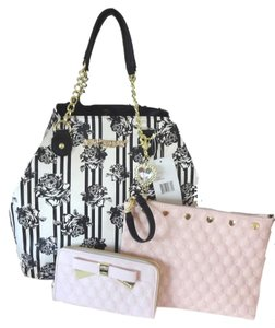 Betsey Johnson Pouch Tote in bone