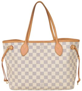 Louis Vuitton Monogram Neverfull Tote in Damier Azure