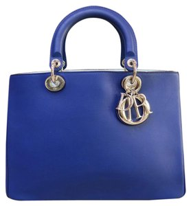 Dior Medium Satchel in blue