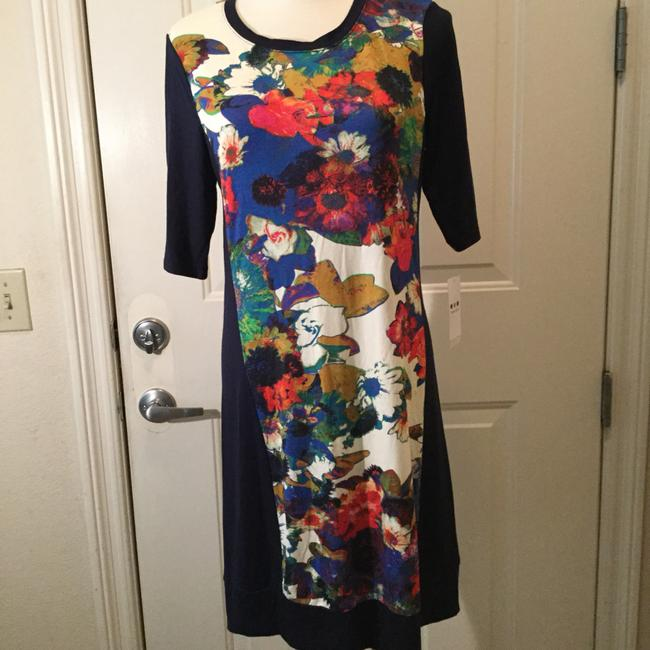Three Dots short dress navy multi on Tradesy Image 3