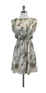 Alice + Olivia short dress Grey & Brown Print Silk on Tradesy