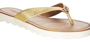 Coach gold tan Sandals