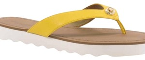 Coach yellow brown Sandals
