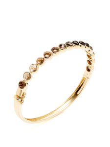 Hammerman Estate 18k Gold Smoky Quartz, Lemon Quartz & Citrine Bracelet
