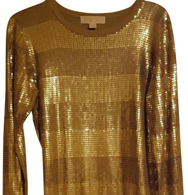 Preload https://img-static.tradesy.com/item/20306081/michael-kors-golden-sparkling-short-cocktail-dress-size-6-s-0-3-650-650.jpg