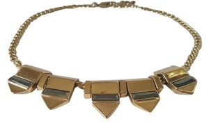 BCBGeneration Gold-tone spike bib necklace