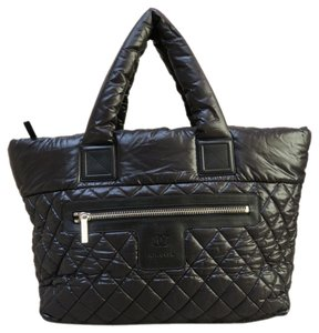 Chanel Coco Cocoon Framed Tote in black