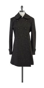 Tocca Grey Black Plaid Wool Coat