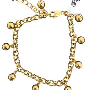 Other 18K Solid Yellow Gold Bell/ Ball Charm Bracelet