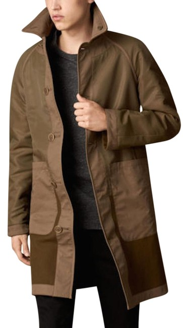 Preload https://img-static.tradesy.com/item/20306276/burberry-military-khaki-mens-reversible-contrast-caban-virgin-wool-jacket-m-trench-coat-size-8-m-0-1-650-650.jpg