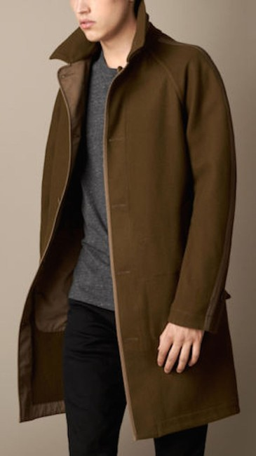 Burberry Mens Jacket Wool Trench Coat Image 1