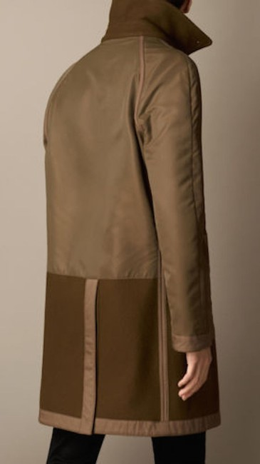 Burberry Mens Jacket Wool Trench Coat Image 2