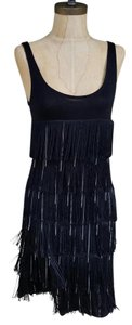 Amisu #fringe #minidress #flapper #silver Dress