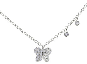 Other Meira T 0.27 Total Ct. Diamond & 14k White Gold Butterfly Necklace
