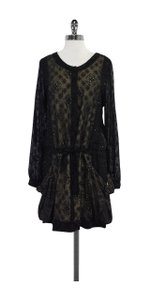 Sachin + Babi short dress Black Eyelet Silk on Tradesy