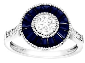 Fine craft jewelry ** NWT ** BLUE & WHITE SAPPHIRE RACIAL RING