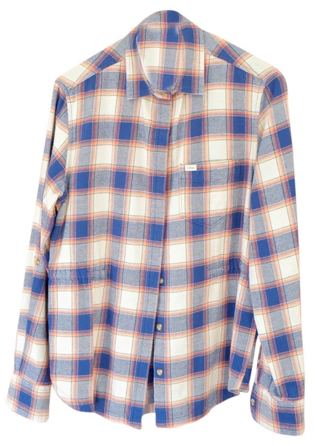 Preload https://img-static.tradesy.com/item/2030648/obey-blue-plaid-button-down-top-size-2-xs-0-0-650-650.jpg