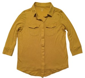 Lands' End Golden Going Out Yellow Party Yellow Work Top