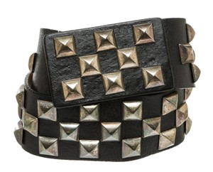 Saks Fifth Avenue Streets Ahead Saks Fifth Avenue Black Leather Studded Carrie Belt (Siz