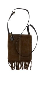 Coach Brown Suede Fringe Cross Body Bag