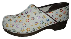 Sanita Leather Flower off white multi Mules