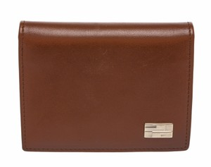 Gucci Gucci Brown Leather ID Bifold Wallet
