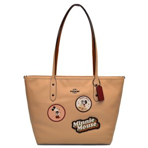 Coach City Limited Edition Minnie Mouse Tote in DK Beechwood