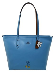 Coach City Mickey Mouse Limited Edition Tote in Dk/ Blue Jay