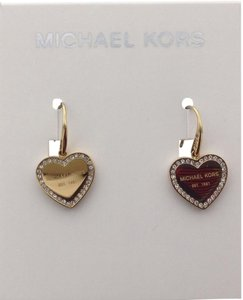 Michael Kors CRYSTAL TRIM HEART LOGO DROP EARRINGS MKJ5395710, MKJ5395